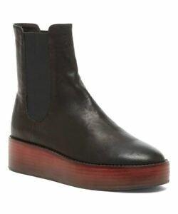 KELSI DAGGER Women's Forest Leather Pull-on Platform Fashion Boot BLACK
