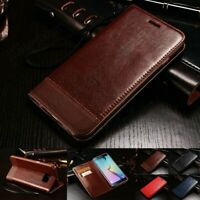 Samsung Galaxy S6 S7 Edge Plus Luxury Leather Wallet Case Magnetic Flip Cover