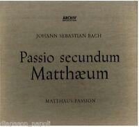 Bach: Passio Secundum Matthaeum / Karl Richter - LP Vinyle Archiv 14125/28