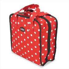Sewing Accessories Case, Knitting, Craft Organiser Storage Bag in Red Polka Dot