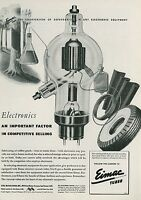 1945 Eimac Electron Vacuum Tubes Ad Industry Vintage Technology Electronics