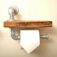 Industrial Style Toilet Roll Holder Shelf. 20% VAT inc. Vintage Retro Steampunk