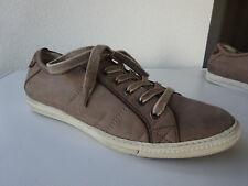 PAUL GREEN Damen Schuhe Sneaker Leder Nubuk Beige Austria Gr.38(5) TOP