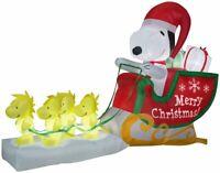 *PRE-ORDER-CHRISTMAS 8 FT SANTA SNOOPY WOODSTOCK SLEIGH SLED AIRBLOWN INFLATABLE