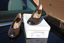 DOLCI'S Women's Brown Leather Wedges (size UK7 / EU40)