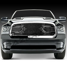 13-17 Dodge RAM 1500 Big Horn Black Packaged Grille+Chrome Shell Replacement NEW