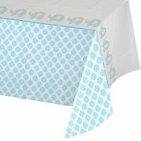 """Creative Converting 316939 All Over Print Plastic Tablecover 54 X 102"""" Little Peanut Boy"""