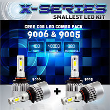 9006 9005 4PCS LED Total 400W 40000LM CREE Headlight High 6000K White Kit - (C)
