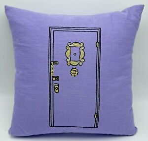 """Pottery Barn Friends Apartment Door Throw Pillow 25th Anniversary 12"""" Square"""