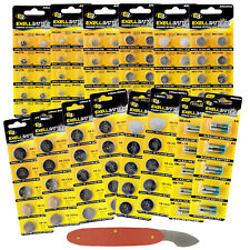 100pc Variety Pack Watch & Coin Cell Batteries CR2025 CR2032 CR2016 392 393 357