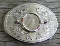Susan B Anthony One Dollar Coin Western Patriotic Vintage Belt Buckle