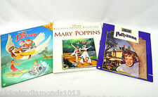 Lot 3 Disney Laserdisc Movies The Rescuers, Mary Poppins, Pollyanna, Excellent