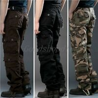 Hot New Men's Casual Military Army Cargo Camo Combat Work Pants Trousers A323