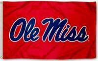 OLE MISS REBELS FLAG 3'X5' UNIVERSITY OF MISSISSIPPI BANNER: FREE SHIPPING 3X5