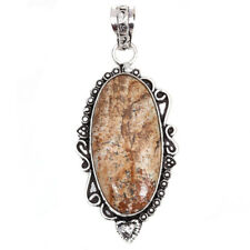 """Her 925 Silver Jewelry Pendant 2.5"""" Picture Jasper Gemstone Handmade Gift For"""