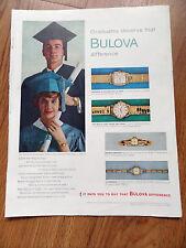1960 Bulova Watches Ad Graduation Theme 1960 Camel Cigarette Ad Graeme Howard Jr