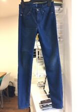 7 for all Mankind blue and black diamond print skinny jeans size 25