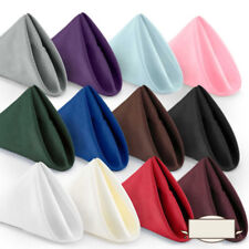 New 10Pcs Square Table Top Decor Dinner Napkins Cloth Folding Hotel Catering BCL