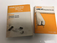 RCA LINEAR INTEGRATED CIRCUITS 1975 Data Book Guide SSD-201B 201C ~ TWO Books!