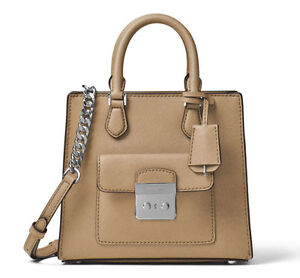 MICHAEL KORS  Damen Tasche Bag SM NS MESSENGER BRIDGETTE Leder bisque