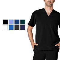 Adar Addition Scrubs For Men - Classic V-Neck Scrub Top