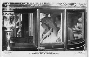 POSTCARD  ROYALTY ROYAL WEDDING - PRINCESS MARY & VISCOUNT LASCELLES