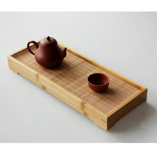 Bamboo Gongfu Tea Tray Chinese Serving Table 36*14.5*4cm Mini Size High Quality