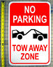 "NO PARKING TOW AWAY ZONE 12"" X 18"" ALUMINUM SIGN"