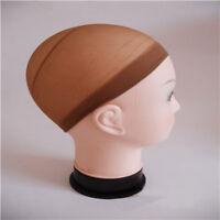 2Pcs Unisex Nylon Stretch Mesh Elastic Stocking Wig Liner Cap Snood