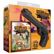 Spaghetti Western Shooter + White Revolver and Nintendo Wii Game. NEW!