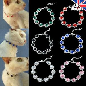 Pets Dogs Rhinestone Necklace Cat Kitten Puppy Princess Party Collar Accessories