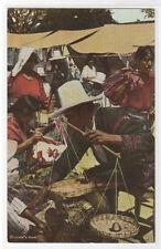 Market Seller Weighing Produce Chichicastenango Guatemala postcard