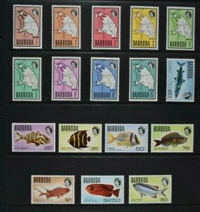 BARBUDA, 1968 / 70, set of seventeen stamps to $5 value, MM condition, Cat £24.