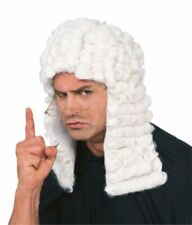 Rubie's Official White Judge Wig Adult Costume - One Size