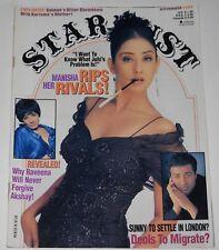 Stardust Magazine November 1997 Manisha Raveena Akshay Sunny Deol