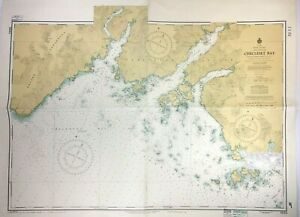 Vtg CHECLESET BAY BROOKS PENINSULA Nautical CHART VANCOUVER ISLAND Canada MAP