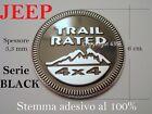 JEEP Stemma TRAIL RATED 4X4 BLACK NERO Fregio Badge Scritta Emblem Armas Waffen