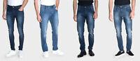 883 Police Mens Slim Stretch Regular Fit Loose Engineered Designer Denim Jeans