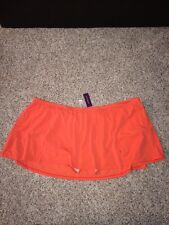 Swim by Cacique Plus Size 24 Swim Skirt Attached Brief Skort Blazing Sunset NWT