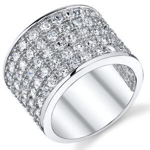 David Beckham Sterling Silver Men's Championship Cubic Zirconia CZ Ring 15MM