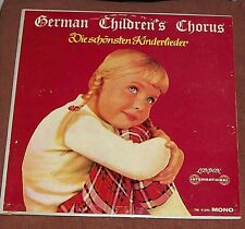VTG 33LP RECORD ALBUM GERMAN CHILDRENS CHORUS DIE SCHÖNSTEN KINDERLIEDER DEUTSCH