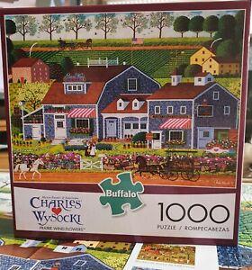 Buffalo Games, Prairie Wind Flowers, Charles Wysocki, 1000 Piece Jigsaw Puzzle