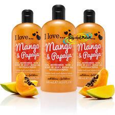 3x I Love... MANGO & PAPAYA Bubble Bath Shower Creme Gel 500ml
