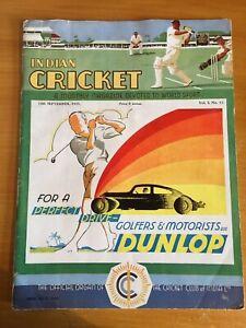 1935 RARE Indian Cricket Magazine vol 1 no12 Sept official cricket club of India
