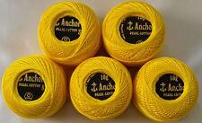 New 5 Anchor Pearl Cotton Crochet Embroidery Thread Balls (Size # 8 - 10 gram)