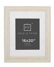 16x20 Photo Frame Cream Color  Shabby Chic Style, with Ivory Mat for 11x14 Photo