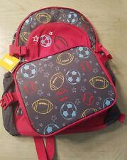 Gymboree UNIFORM SHOP Sports Backpack & lunchbag SET football baseball soccer