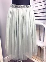 Maya Petite Embellished Waist Tulle Midi Skirt RRP £55 (AS-18/2)
