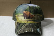 BEAR FOREST MOUNTAIN OUTDOOR SNAPBACK BASEBALL CAP HAT MESH BACK ( CAMO BILL )