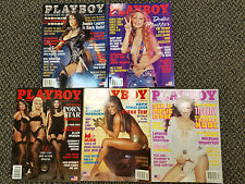 Lot of 5 Playboy Magazine Year 2002 JAN-TO-MAY ISSUES (359)